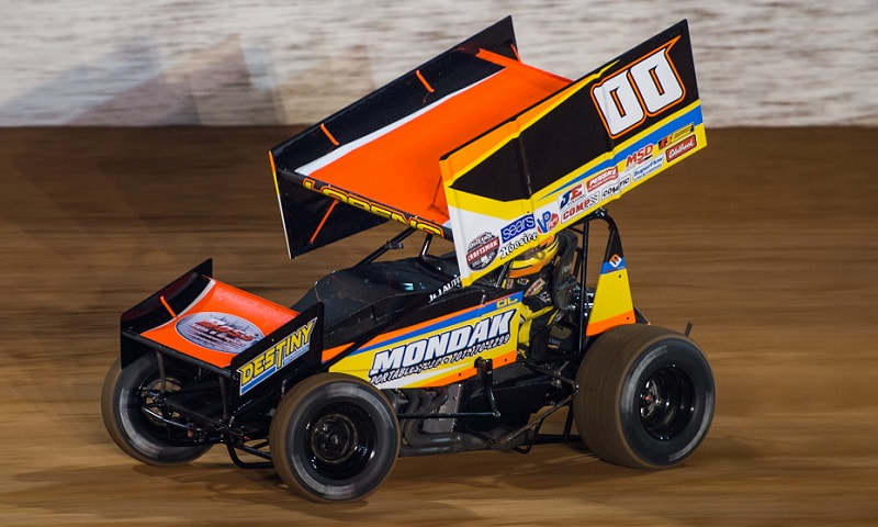 World of Outlaws, Sprint Car Graphics, Sprint Car Wraps, Boss Signs and Graphics, ND, Dane Lorenc, Destiny Motorsports, Race Car Signs,  Race Car Wraps, Buffalo NY, Fairmount IN, Mondak Portables, Vehicle wraps, Vehicle Signs